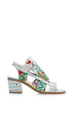 7f45a0e6124 Hermione Embroideredd Linen Sandals