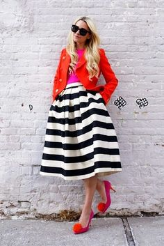 3.15 color // crazy (J Crew jacket + J Crew sweater + Tibi skirt + Minna Parikka heels + M2M bag + Karen Walker sunnies)