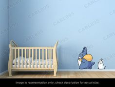 Ghibli Totoro - Totoro Chu / Totoro Chibi Wall Art Applique Stickers