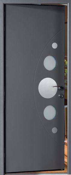 Porte d'entrée alu Habitat Tendance - pose de portes d'entrée en aluminium