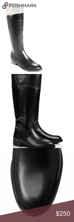 Tory Burch Kiernan riding boot This is a brand new, never worn authentic Tory Burch riding boot.  Has gold logo on side. Comes with original dust bag and box. Tory Burch Shoes