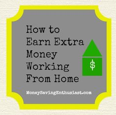 How to Earn Extra Money Working From Home #extramoney
