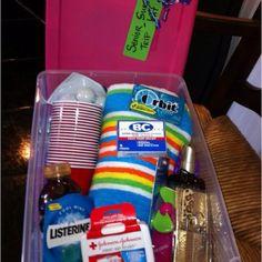 Senior trip survival kit!! Just have fun with it, I had a blast making it!!!