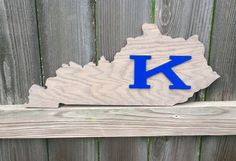 Power K- University of Kentucky! Kentucky Wooden State Cutout. #bluecutcreations #etsy