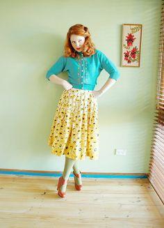 Turquoise & yellow