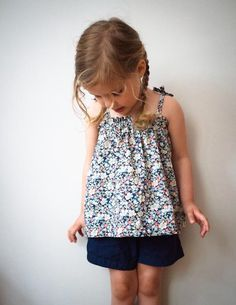 Corinne's Thread: Kid's Gathered SummerTop - The Purl Bee - Knitting Crochet Sewing Embroidery Crafts Patterns and Ideas!