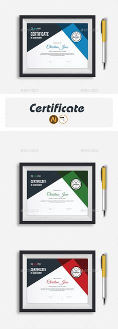 Certificate Stationery Printing, Stationery Templates, Stationery Design, Print Templates, Certificate Design, Certificate Templates, Certificate Of Achievement, Graphic Design Print, Anime Artwork