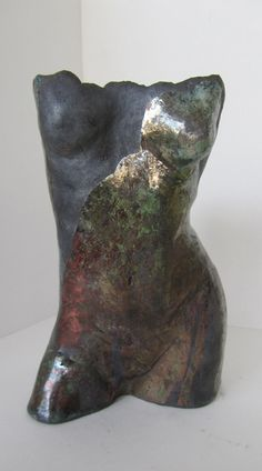 Raku fired torso. Susan Fox. Sold
