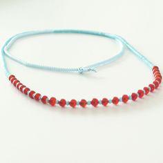lange Granat Türkis Rocaille Halskette von banou-design auf DaWanda.com