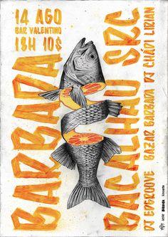 So erhöhen Sie die sozialen Anteile Ihrer Websites - Bild Gold - Festival Graphic Design Posters, Graphic Design Illustration, Graphic Design Inspiration, Graphic Art, Fish Illustration, Creative Poster Design, Creative Inspiration, Design Graphique, Art Graphique