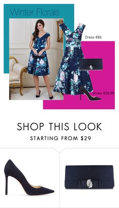 """""""Magenta Florals"""" by virgoboutique on Polyvore featuring Jimmy Choo and Nina"""