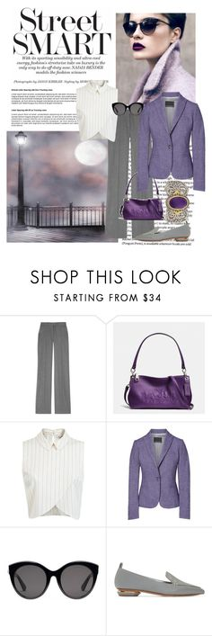 """Street Smart"" by donna-capodelupo ❤ liked on Polyvore featuring STELLA McCARTNEY, Coach, Miss Selfridge, Gucci, Nicholas Kirkwood, Konstantino, classic and polyvorefashion"