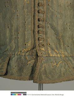 GNM T1635 Buttons on silk doublet c.1610 Germanischen Nationalmuseum Nürnberg
