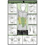 Abdominal Workout Laminated Fitness Poster