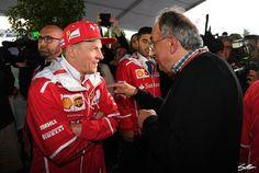 Sergio Marchionne und Kimi Räikkönen scheinen gut miteinander auszukommen - Foto: Sutton
