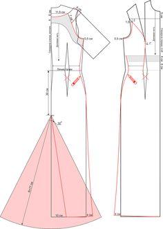 Как сшить праздничное платье со шлейфом