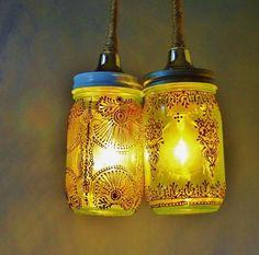 Niesamowity lampion zrobiony ze słoików ! #jar #masonjar #sloik #szklo #glass #design #DIY