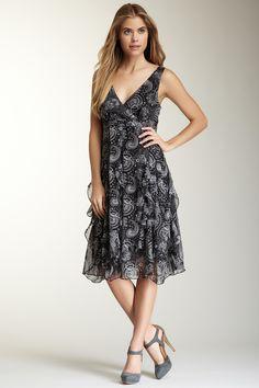 Papillon Ruffle Bottom Paisley Print Dress on HauteLook