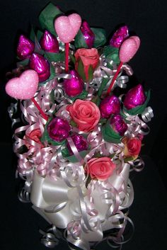 HERSHEY kiss rose candy bouquets by Suzy's Wrap Shack!
