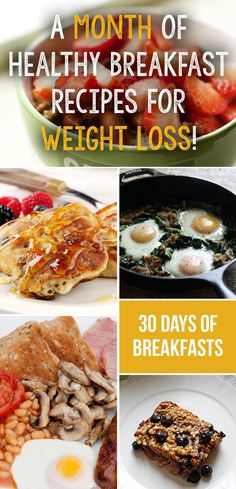 We have collected 28 delicious and healthy weight loss breakfasts from some amazing websites and blogs that you can use as part of your overall health eating diet. You can follow this plan for the full 28 days, or simply try out some of your favourites on days were you feel like a change.