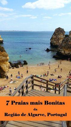 Post com as 7 praias mais bonitas do litoral da Região de Algarve em Portugal: