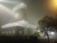 foggy night in Prague / Jiriho z Podebrad Prague City, Holy Roman Empire, Renaissance Era, Romanesque, Czech Republic, Mists, Night, World, Places