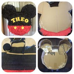 Ideas Baby Shower Ides Minnie Mouse Theme in 2019 Mickey Mouse Pinata, Baby Mickey Mouse, Festa Mickey Baby, Theme Mickey, Mickey E Minie, Fiesta Mickey Mouse, Mickey Mouse Clubhouse Birthday, Mickey Mouse Parties, Mickey Party