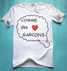 """i will take it   Comme des Garcons CDG """"PLAY"""" Unisex Tee T-Shirt Size L #P5W"""