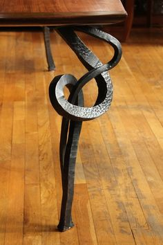 Hand Forged Table Leg Detail
