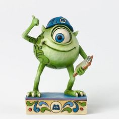 Jim Shore Disney Traditions - Mike Wazowski Good Morning Metropolis Monsters Inc Figurine 4031488 Deco Disney, Disney Pixar, Disney Characters, Disney Art, Disney Monsters, Monsters Inc, Pixel Art, Disney Statues, Figurine Disney