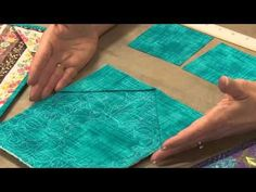 How to Hang a Quilt with Beth Ferrier--I've used the corner pockets for awhile now on my small pieces; however, NEVER thought of using the command strips to hang up the quilt.  Great idea!!