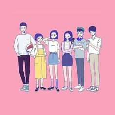 Teen Wallpaper, Cover Wallpaper, Drama Korea, Korean Drama, Teen Web, Web Drama, Cute Cartoon Wallpapers, Cute Drawings, Webtoon