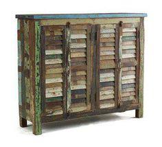 Mueble aparador postigo persiana pintar.