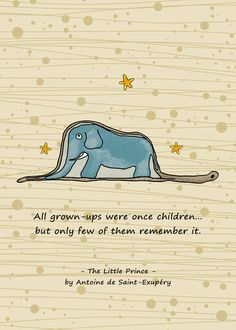 The Little Prince and a beautiful quote