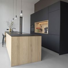 How To Incorporate Contemporary Style Kitchen Designs In Your Home Open Plan Kitchen, Kitchen On A Budget, Kitchen Pantry, New Kitchen, Kitchen Decor, Cocina Office, Kitchen Cabinets And Countertops, Design Moderne, Cuisines Design