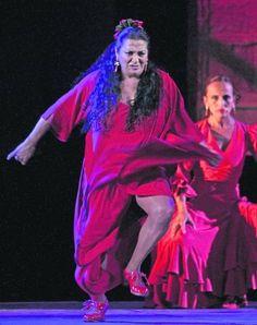 La Farruca en el espectáculo Huellas en los Reales Alcázares de Sevilla, Bienal de Flamenco 2012.