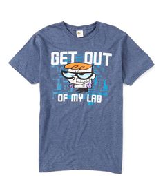 Loving this Navy 'Get Out Dexter's Lab Tee - Adult on #zulily! #zulilyfinds