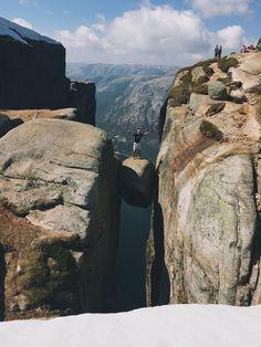 My brother at Kjeragbolten. Norway, Brother, Hiking, Nature, Travel, Beautiful, Walks, Naturaleza, Viajes