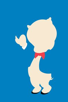 Porky Piggy | Looney Tunes Minimalistic Artwork Poster Collection