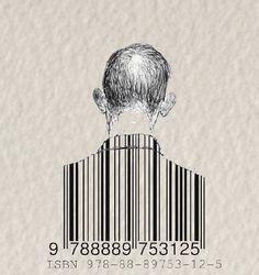 Use of including barcode as branding, using the body to incorporate it Barcode Art, Barcode Design, Graphic Design Illustration, Illustration Art, Fridah Kahlo, Street Art, Bizarre, Ap Art, Elements Of Art