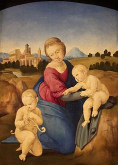 Raphael Sanzio (Italian: Raffaello) - Esterhazy Madonna Oil on canvas, 1508 29 cm cm in in) Museum of Fine Arts, Budapest, Hungary Framed Art Prints, Painting Prints, Canvas Prints, Madonna Art, Art Ninja, Palais Du Luxembourg, Saint Jean Baptiste, Michelangelo, Virgin Mary