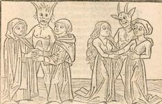 """doctordisaster: """" bapouro: """"i was looking through medieval drawings of demons the other day and i found the demons that make you gay """" Look at these friendly and kind boys! The mlm demon with his. Medieval Drawings, Female Demons, Love And Lust, Woodland Creatures, Gay Art, 15th Century, Gravure, Middle Ages, Religion"""