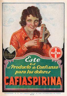 Aviso Cafiaspirina Producto de Confianza Año: 1931 Autor: Imprenta Editorial Zig-Zag Lugar: Santiago Archivo: Revista Zig-Zag, Pontificia Universidad Católica de Chile
