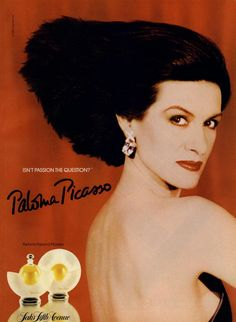 Paloma Picasso, Promotional for her perfum, 1987