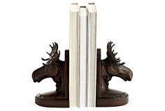 Christmas present for me, thanks. Pair of Moose Head Bookends on OneKingsLane.com