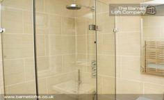 Sandstone tile bathroom wall and floor