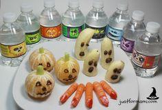 Opciones Saludables para el día de Brujas  Nestlé Pure Life está lanzando las nuevas Botellas con etiqueta de monstruos para que este próximo día de brujas tratemos de evitar las bebidas azucaradas en nuestros niños #MamasPureLife #agua #halloween #ideas #fruta #vegetales #mandarina #banano #zanahoria