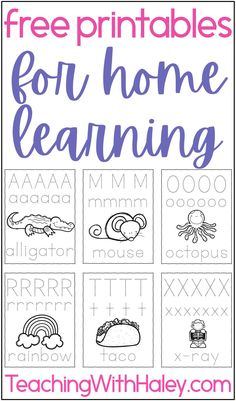 FREE printable resources for learning at home you can use today by Haley O'Connor. Listed in this blog post are free activities you can do with your kids at home. Kid's activities and resources to download include both handwriting activities and self-control resources. The handwriting activities are a great free resource for kids to practice handwriting at home and not regress. The Self-control resource is perfect if your kids are struggling with emotions, and patience. Download for free!