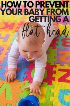 How to prevent your baby from getting a flat head. How to avoid the baby helmet with adequate amounts of tummy time each day for your newborn. Office Baby Showers, Baby Helmet, Baby Supplies, Flat Head, Baby Pillows, Baby Head, Babies First Christmas, Newborn Care, Tummy Time