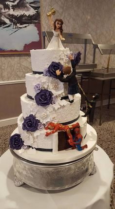 Super hero wedding cake